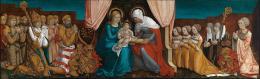 Hans Baldung Grien: Markgraf Christoph I. von Baden mit seiner Familie in Anbetung vor der Heiligen Anna Selbdritt, um 1510. Staatliche Kunsthalle Karlsruhe