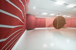 """Sonia Kacem, """"Between the scenes"""", Installation view Westfälischer Kunstverein, Münster, 2019-2020. Photo: Thorsten Arendt"""