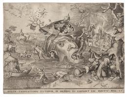 Pieter van der Heyden nach Pieter Bruegel d. Ä. Verlegt von Hieronymus Cock Die Versuchung des heiligen Antonius, 1556 Kupferstich, 24,5 × 32,2 cm Graphische Sammlung ETH Zürich © Graphische Sammlung ETH Zürich