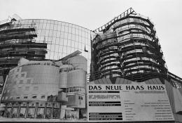 Hans Hollein, Haas-Haus, Wien, AT, 1985-1990, Baustelle 1989 (c) Architekturzentrum Wien, Sammlung, Foto: Margherita Spiluttini