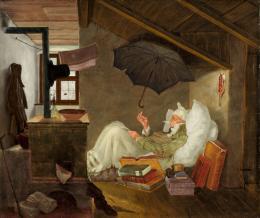 Der arme Poet , 1838, Öl auf Leinwand, 37.9 x 45 cm, Privatbesitz