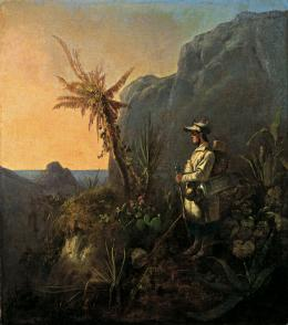 Der Naturforscher in den Tropen , 1835, Öl auf Leinwand, 49.4 x 43.4 cm, Museum Georg Schäfer, Schweinfurt