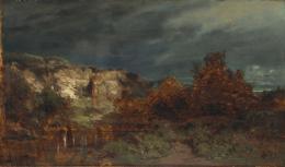 Irrlichter, um 1867/1868 Öl auf Laubholz, 31.3 x 53.7 cm, Bayerische Staatsgemäldesammlungen München – Neue Pinakothek
