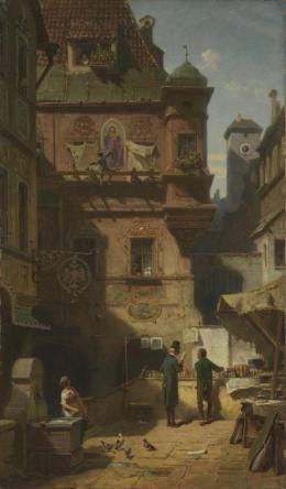 Kunst und Wissenschaft, um 1880, Öl auf Leinwand, 56.1 x 33 cm, Bayerische Staatsgemäldesammlungen München – Neue Pinakothek