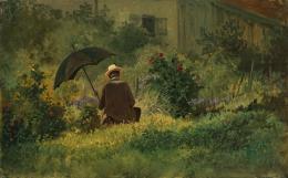 Der Maler im Garten , um 1860, Öl auf Karton, 21.5 x 34 cm, Kunst Museum Winterthur, Stiftung Oskar Reinhart