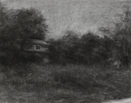 Renie Spoelstra, Real Estate Property # 3, 2010, Kohle auf Papier, Donation de la Collection Florence et Daniel Guerlain, 2012 Centre Pompidou – Musée National d'Art Moderne, Paris © Renie Spoelstra © Adagp, Paris
