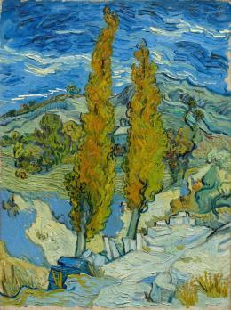 Vincent van Gogh (1853-1890) Die Pappeln in Saint-Rémy, 1889 Öl auf Leinwand, 61,6 x 45,7 cm The Cleveland Museum of Art Vermächtnis von Leonard C. Hanna, Jr., 1958.32 Foto: Courtesy The Cleveland Museum of Art