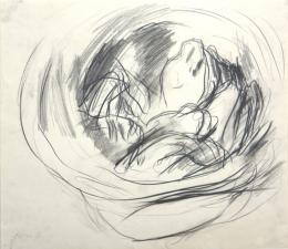 Stillleben (Schüssel) - 1963 - Bleistift auf Papier, 35,6 x 41,3 cm signiert und datiert links unten (c) Galerie Welz
