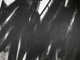 Sonja Gangl, Supra-Linien #06, 2019 Grafitpigment und Acryl auf belgischem Leinen, 175,3 x 235 cm, Courtesy die Künstlerin, Foto: Thomas Gorisek