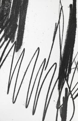 Sonja Gangl, Supra-Linien #09, 2019 Grafitpigment und Acryl auf belgischem Leinen, 190 x 122 cm, Courtesy die Künstlerin, Foto: Thomas Gorisek
