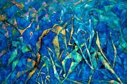 Susanne Wenger, Ifa Pieta deep blue, 1982-84, Susanne Wenger Foundation / Wolfgang Denk