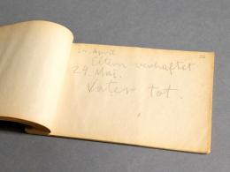 Tagebucheintrag 1938 © Martin/Wedl Österreichische Nationalbibliothek