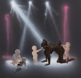 Tala Madani, Shit Moms (Disco Babies), 2019, Courtesy of the Artist und David Kordansky, Los Angeles