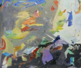 """Ohne Titel"", 2019, Öl auf Leinwand, 100 x 120 cm  © Galerie Welz"