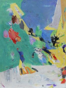 """Ohne Titel"", 2020, Öl auf Leinwand, 100 x 75 cm © Galerie Welz"