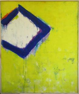 Teruko Yokoi, Ohne Titel, 1958. Öl auf Leinwand, 127 x 107,4 cm. © Teruko Yokoi, Bern