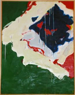 Yokoi Teruko Shizen (Natur), 1960 Öl auf Leinwand 145 x 113 cm Teruko Yokoi, Bern © the artist