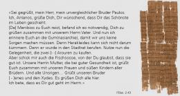 Übersetzung der Papyrustafel (Bild: Uni Basel)