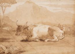 Giovanni Domenico Tiepolo,  Liegender Ochse in einer Landschaft, o. D. (um 1770),  Nordico Stadtmuseum Linz Tiepolo_Ochse_um_1770.jpg Zur Auswahl hinzufügen