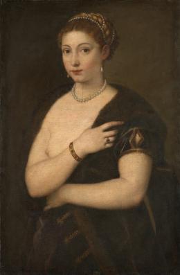 Tizian (um 1488–1576), Mädchen im Pelz, Um 1534/36 Leinwand, 95,5 × 63,7 cm, Kunsthistorisches Museum Wien, Gemäldegalerie © KHM-Museumsverband
