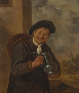 Harmen Hals (1611-1669), Lachender Mann mit Krug und Korb am Rücken, um 1650 Innsbruck, Tiroler Landesmuseum Ferdinandeum, Ältere Kunstgeschichtliche Sammlungen, Inv.Nr. Gem 712 Foto: Tiroler Landesmuseen