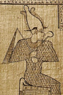 Osiris aus dem Totenbuch der Taruma © Österreichische Nationalbibliothek