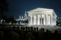 Theseustempel Beleuchtung bei Nacht © KHM-Museumsverband