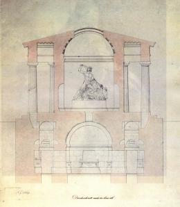 Theseustempel, Querschnitt Zeichnung von Karl Schmidt (1825) nach dem Entwurf von Pietro Nobile (1820) Wien, Albertina, Architektursammlung © Wien, Albertina