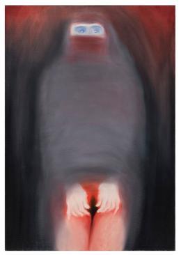 Miriam Cahn: überlebende (undarstellbar), 1998. Öl, 90 x 130 cm; Foto: Markus Tretter, Kunsthaus Bregenz. Courtesy of the artist, © Miriam Cahn