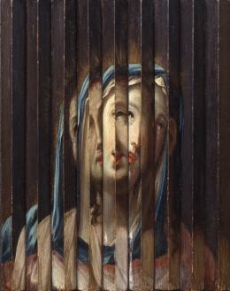 Umkreis Guido Reni Riefelbild mit Porträts von Jesus und Maria , erste Hälfte 17. Jh. Öl auf Holz 33,5 x 26,5 cm Sammlung Werner Nekes