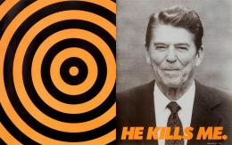 Donald Moffett: He Kills Me, 1987; Courtesy of the artist and Marianne Boesky Gallery, New York and Aspen