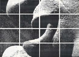 Hudinilson Jr., Zona de Tensão III – D, 1988, Sammlung Migros Museum für Gegenwartskunst. Fotokopie auf Papier, 16 Teile: je 20,1 x 29,2 cm