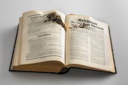 Gesetzblatt für das Land Österreich, 1938, Eigentum der Vorarlberger Landesversicherung, Vorarlberg Museum, Foto: Markus Tretter