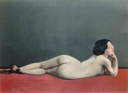 """Félix Vallotton, 1865 –1925, """"Nu couché au tapis rouge"""", 1909, Petit Palais, Genf"""