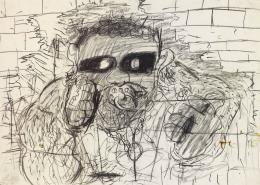 Erik van Lieshout, Tim Dog, 1992, Kohle, Öl, Aquarell auf Papiercollage, Donation de la Collection Florence et Daniel Guerlain, 2012 Centre Pompidou – Musée National d'Art Moderne, Paris © Erik van Lieshout © Adagp, ParisErik van Lieshout, Tim Dog, 1992, Kohle, Öl, Aquarell auf Papiercollage, Donation de la Collection Florence et Daniel Guerlain, 2012 Centre Pompidou – Musée National d'Art Moderne, Paris © Erik van Lieshout © Adagp, Paris