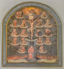 Vierzehn Nothelfer, Gemälde aus dem Kirchendepot in Lorüns, unbekannter Künstler, um 1780, Motafoner Museen, Foto: Dieter Petras