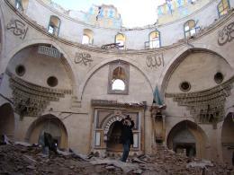 Zerstörte Moschee in Aleppo, Syrien. April 2017; © ICONEM / DGAM
