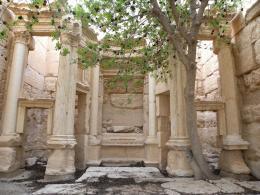 Tempel des Baalshamin. Innenansicht der Cella (Hauptraum des Tempels), 2010. Palmyra, Syrien; © Louise Rubeli, IASA – UNIL