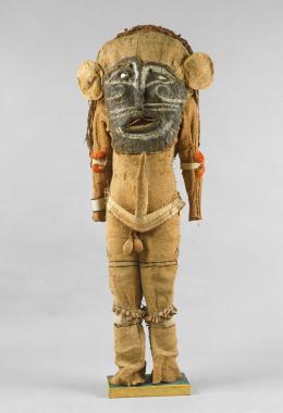 Maskenkostüm des Sturmdämons O'ma, Brasilien, Tikuna, um 1830, Weltmuseum Wien © KHM-Museumsverband