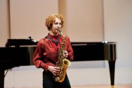 Die 19 Jahre alte Ayleen Weber setzte sich im Solistenwettbewerb des VLK durch © Victor Marin