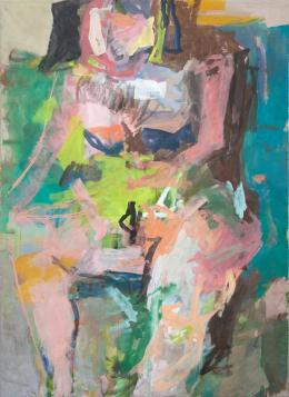 © Wilhelm Drach, Figur 1, 2020, Acryl auf Leinwand, 200 x 145 cm