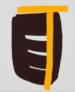 LW185, 2019 Hochpigmentierte Leimfarbe auf Baumwolle, 210 x 170 cm © Markus Weggenmann