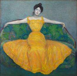 Dame in Gelb, 1899  Max Kurzweil Öl auf Leinwand © Wien Museum
