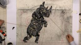 William Kentridge, Dancing Rhino, 2020 Videostill aus The Long Minute, 2020 © William Kentridge