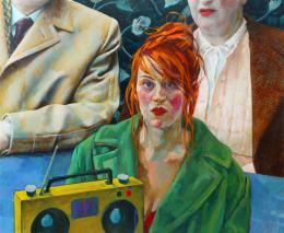 Xenia Hausner, Vor dem Leben, 2015, Öl auf Papier auf Hartfaser, The Bennett Collection of Women Realists © Bildrecht, Wien, 2021