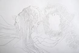 """(c) Yein Lee, """"glitches' lacemaking"""", Zeichnung, 2020"""