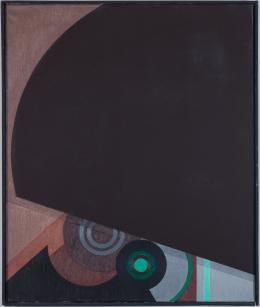 Rémy Zaugg Technique oui ou non? Nr. 6, 1967 Öl auf Leinwand, 60 × 50 cm Kunstmuseum Basel Schenkung Hans und Monika Furer-Brunner Stiftung