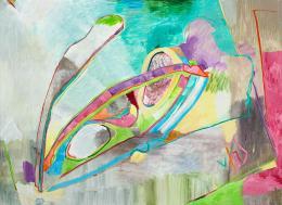 """Gerlind Zeilner, """"Brille"""", 2019, Eitempera und Öl auf Leinwand, 160 x 220 cm © Gerlind Zeilner, Foto : Lukas Dostal"""