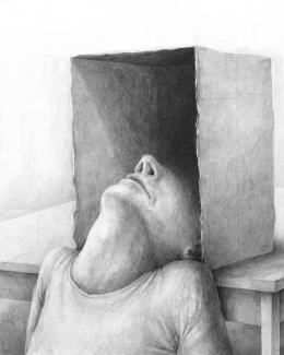 Stefan Zsaitsits, Karton, 50 x 40 cm, 2021 © Stefan Zsaitsits