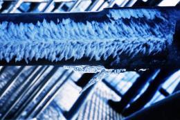 Andreas Züst, aus der Serie Eis, undatiert, Diapositiv, Galerie & Edition Marlene Frei, Zürich, © Nachlass Andreas Züst, Graphische Sammlung, Schweizerische Nationalbibliothek, Bern